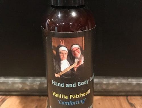 Vanilla and Patchouli Hemp Hand and Body Lotion (4 oz.)