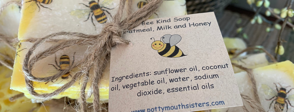 Bee Kind Soap - Oatmeal, Milk and Honey (3-1/2 oz./bar - Includes two bars)