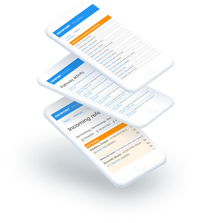 Clinical workflows are transformed digitally and referrals can be made directly  from consultants' mobile