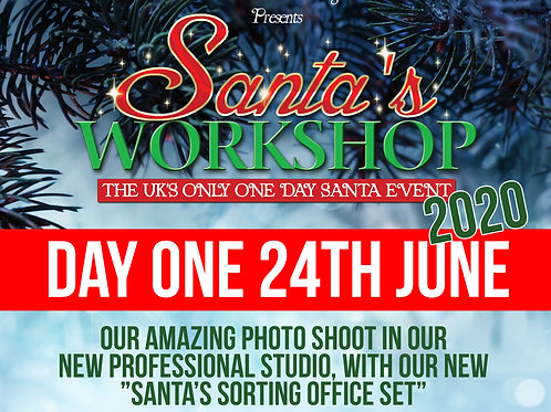 Santa's Workshop Photo Shoot Ticket 24th June Only
