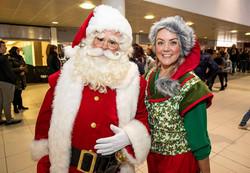 Santa with Elf Amy