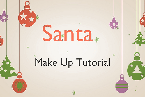 Professional Santa Make-up Tutorial