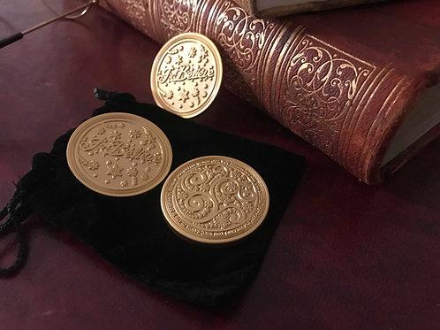 Official Brass Santa Coins