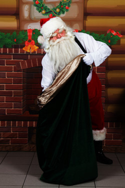 Santa looking for the perfect gift