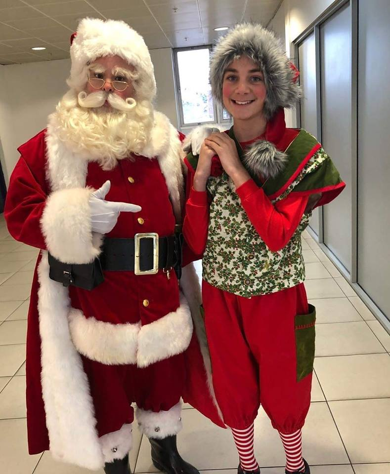 Santa and Elf Jay Jay