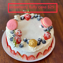 Strawberry Fluffy Cake $25
