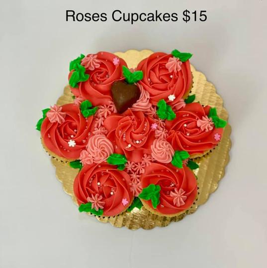 Roses Cupcakes $15