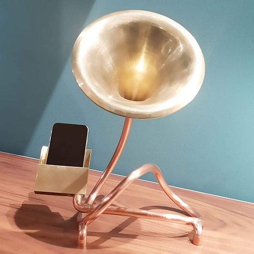 Mégaphone en cuivre - Amplificateur de son