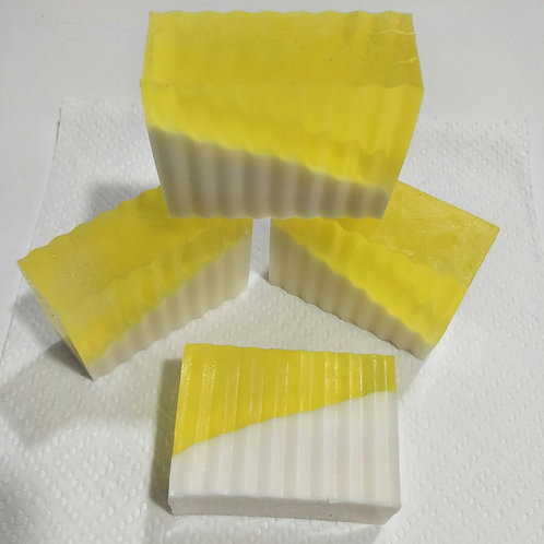 Pineapple and frangipani goat's milk soap