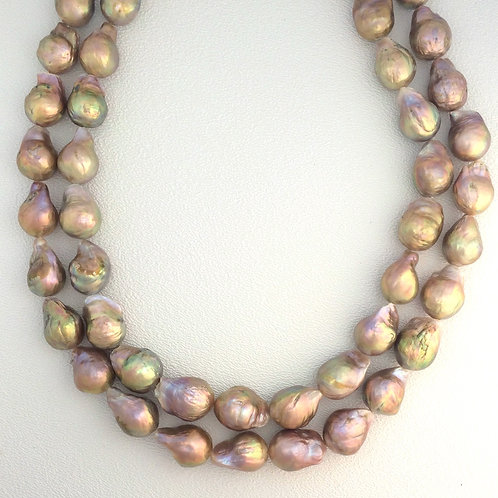 Metallic Ming Pearl Strands