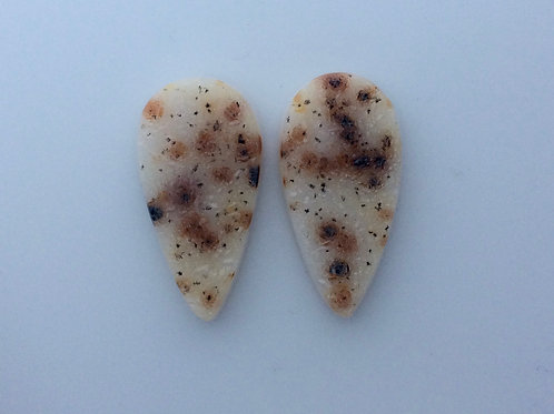 Spotted Drusy Agate Pair