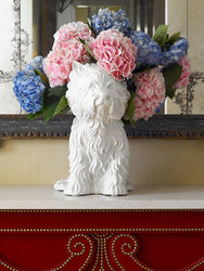 Jeff Koons says his porcelain puppy is a