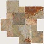 French pattern Earth Slate tiles