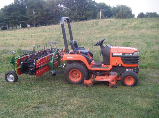 Kubota L45 Tractor/Power Rake