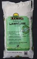 Pelletized lawn lime