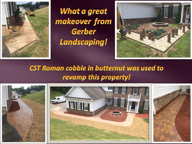 CST Roman cobble in butternut, landscaping