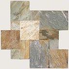 French pattern Golden White tiles