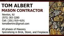 Tom Albert, Mason Contractor