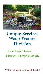 Unique Services Water Feature Division