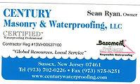 Century Masonry & Waterproofing