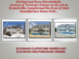 Home renovation using ElDorado Cliffstone Veneer and ElDorado Weather Edge Veneer.