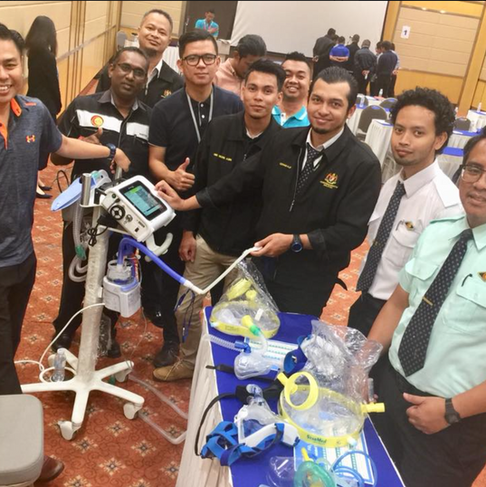 Collaboration with PUEM2018 for PreCongress Basic Mechanical ventilation for Paramedic
