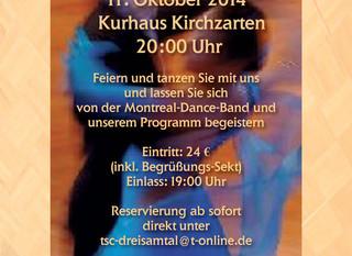 Herbstball im Kurhaus Kirchzarten am 11. Oktober 2014