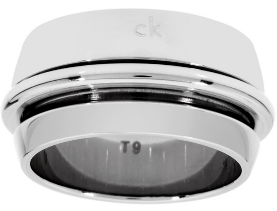 Nhẫn Calvin Klein Twice Silver Size 6 Ring 100% chính hãng
