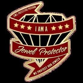 Jewel Protector Lapel Pin black diamond.