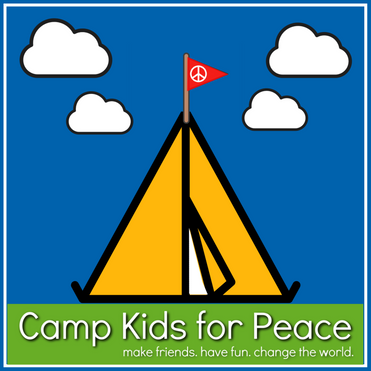 Camp Kids for Peace with frame and grass