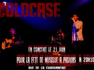 Coldcase en concert pour la fête de la musique