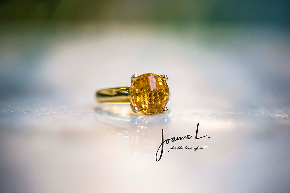 Citrine Ring in Sterling silver. Customisable in 18k gold and available in a selection of other gemstonesn