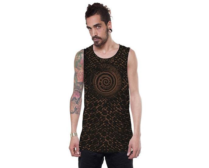 ALL OVER SERPENT BLACK TANK