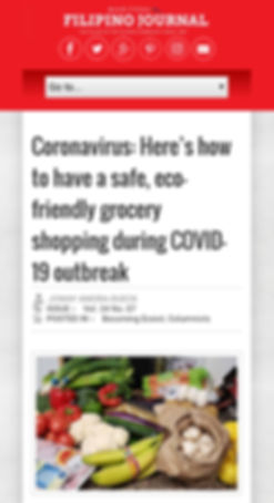 Safe ecofriendly grocery shopping