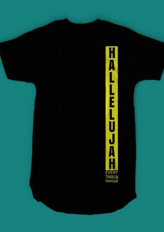 """""""Hallelujah"""" Longline T-shirt"""