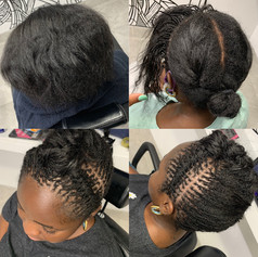 Sisterlocks on Relaxed Hair