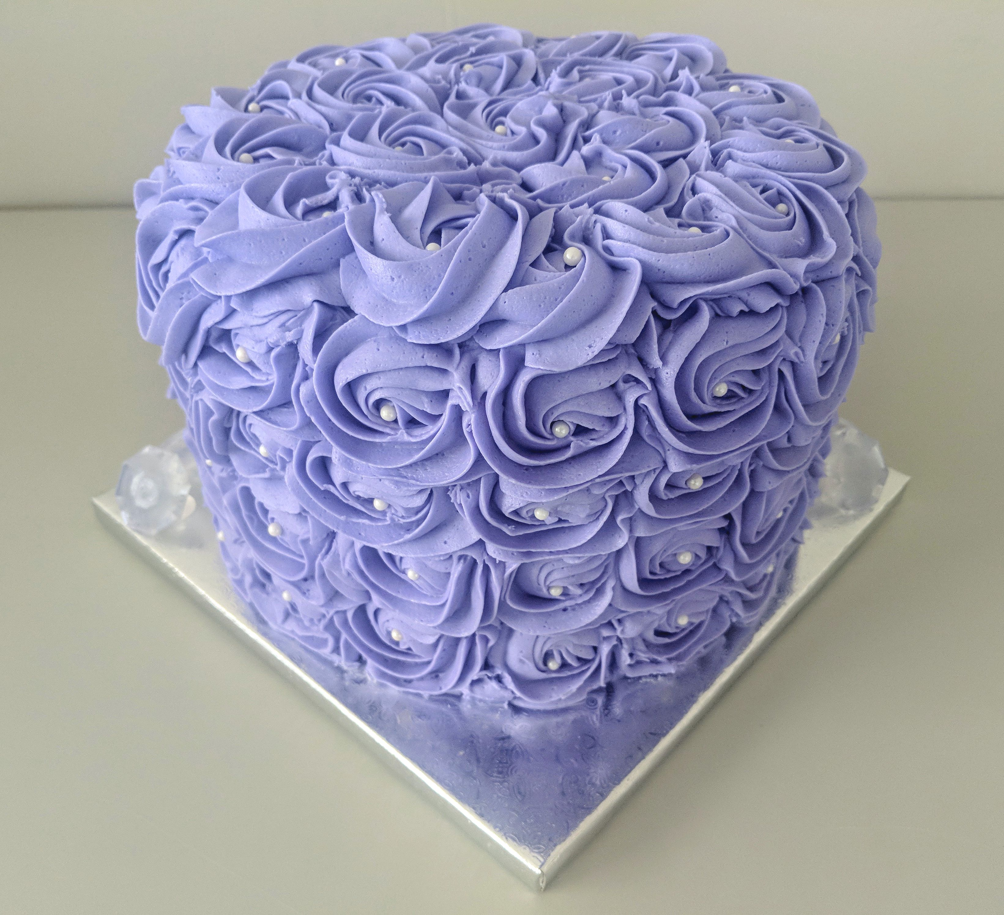 Lavender Rosette Cake