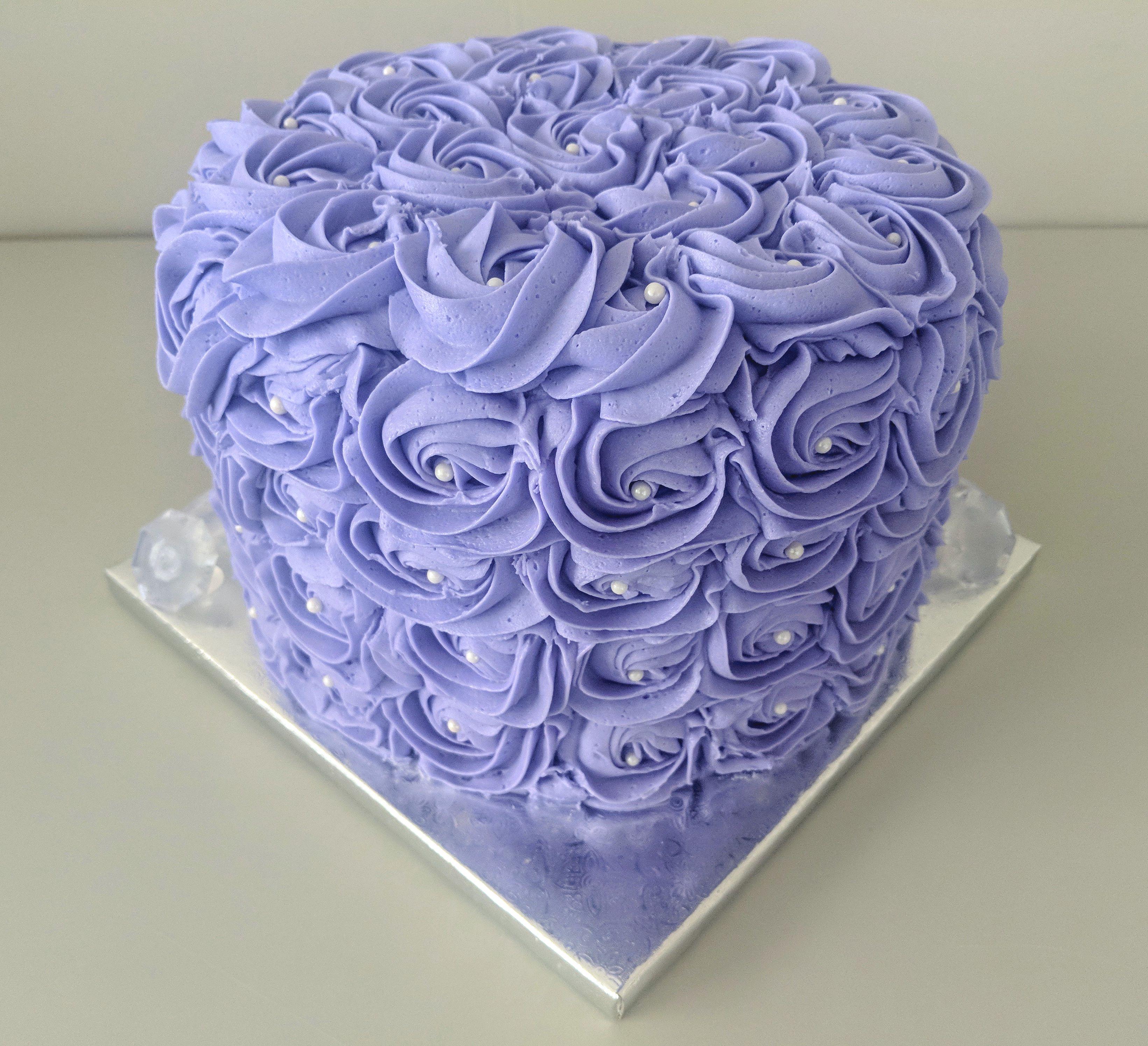 Lavender Rosette Cake
