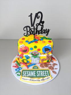 Sesame Street Half Birthday Cake