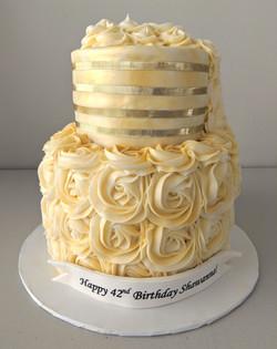 Golden Girl Birthday Cake