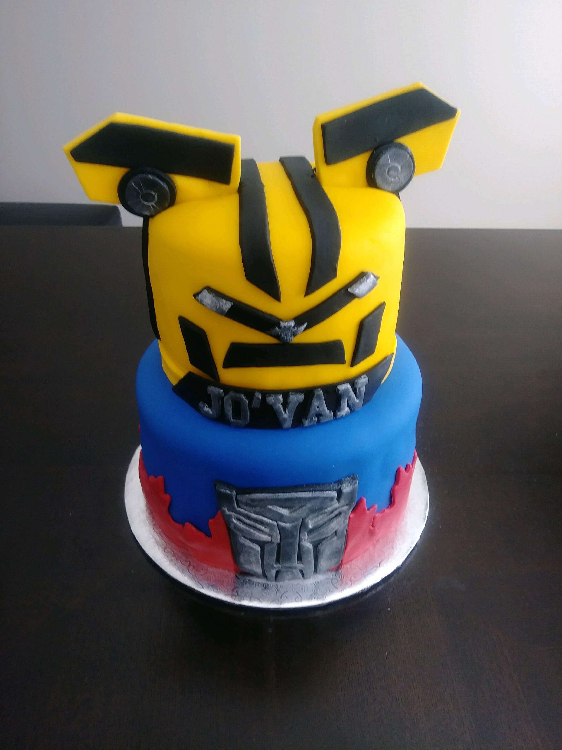 Transformers Birthday Cake