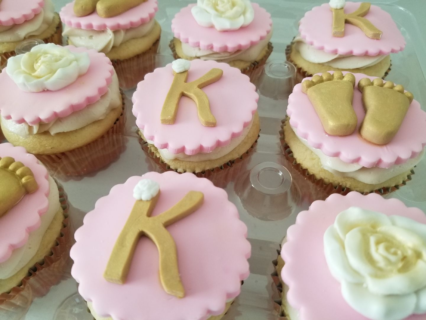"""Precious Baby"" Shower Cupcakes"