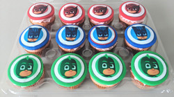 PJ Masks Birthday Cupcakes