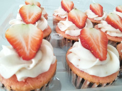 Strawberry topped Strawberry Cupcake
