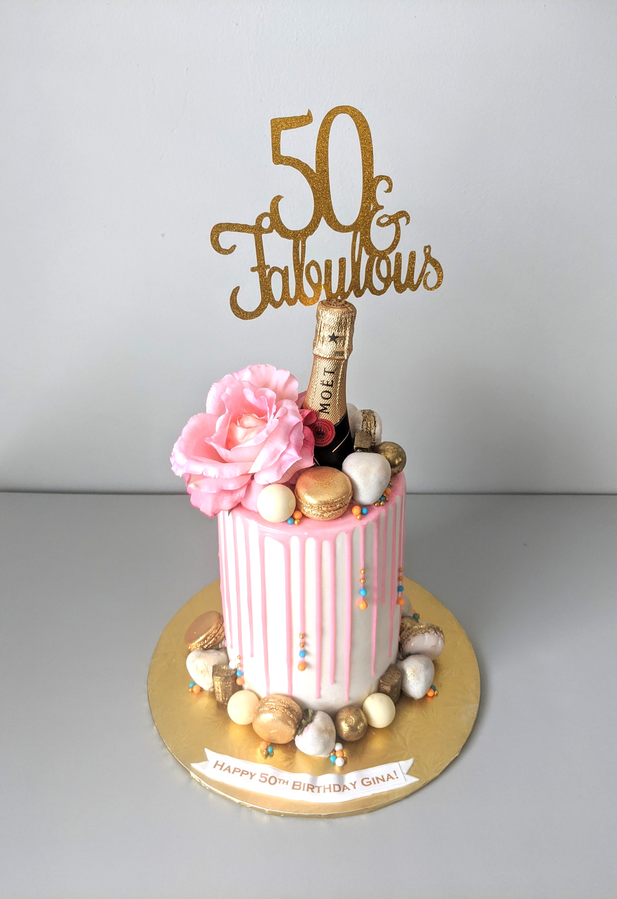 Moet 50th Birthday Barrel Cake