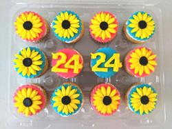 Sunflower Cupcakes (fondant)