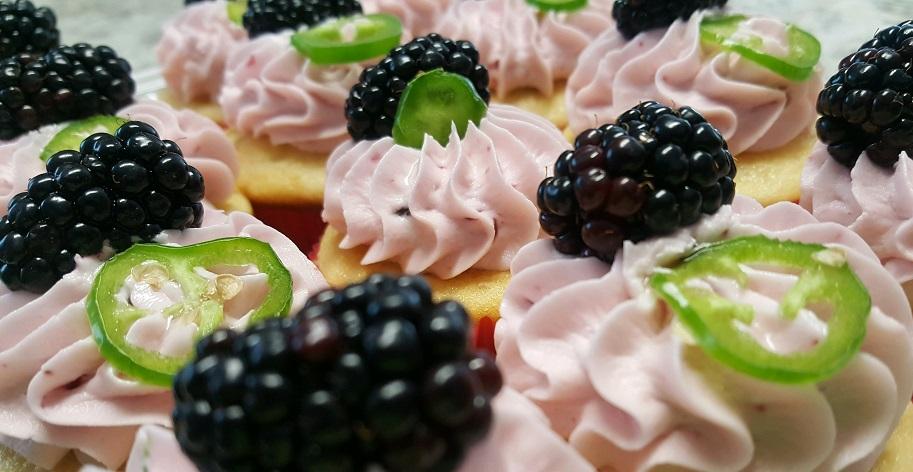 Blackberry Jalapeño Cupcakes