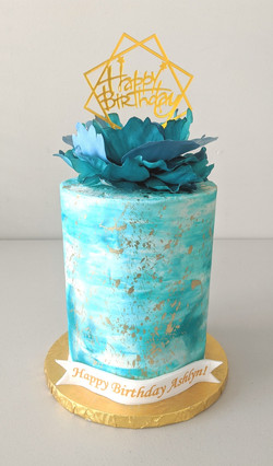 Blue Ocean Barrel Cake