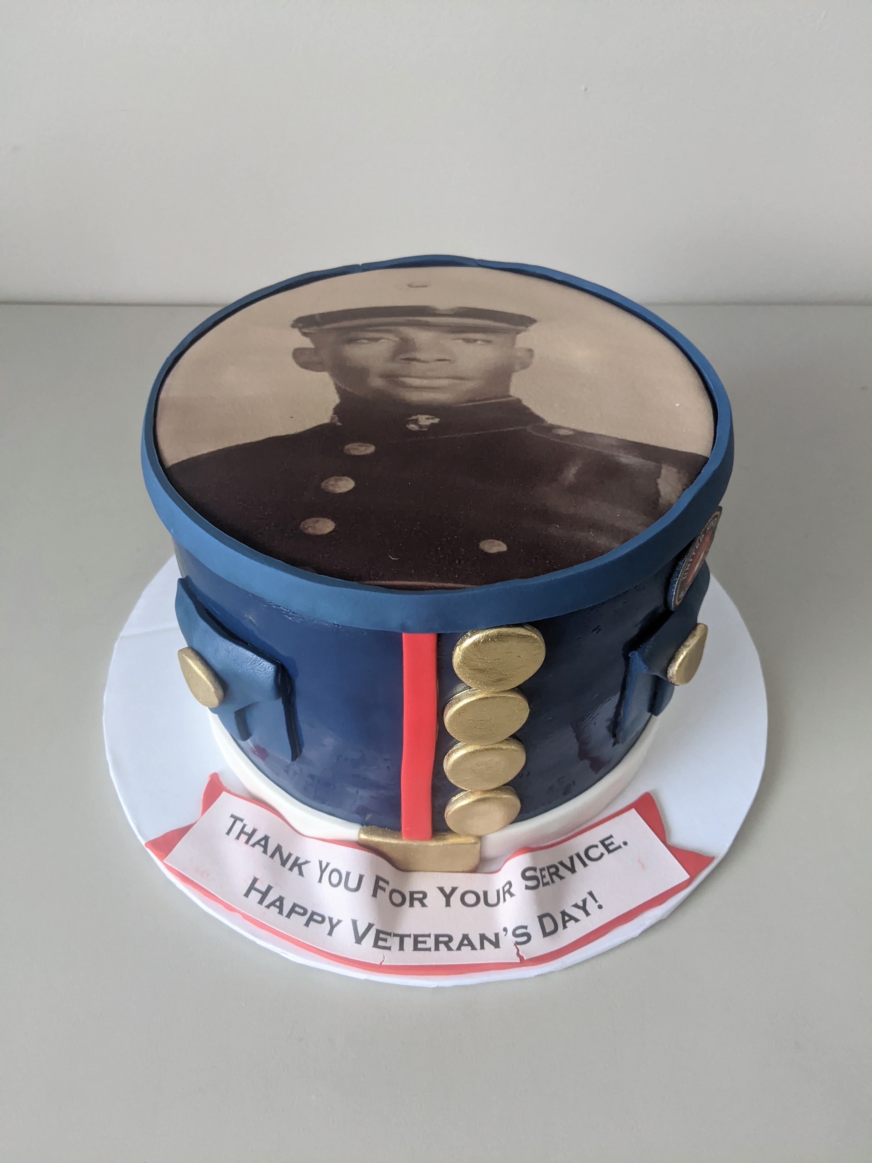 Navy Veteran's Day Cake