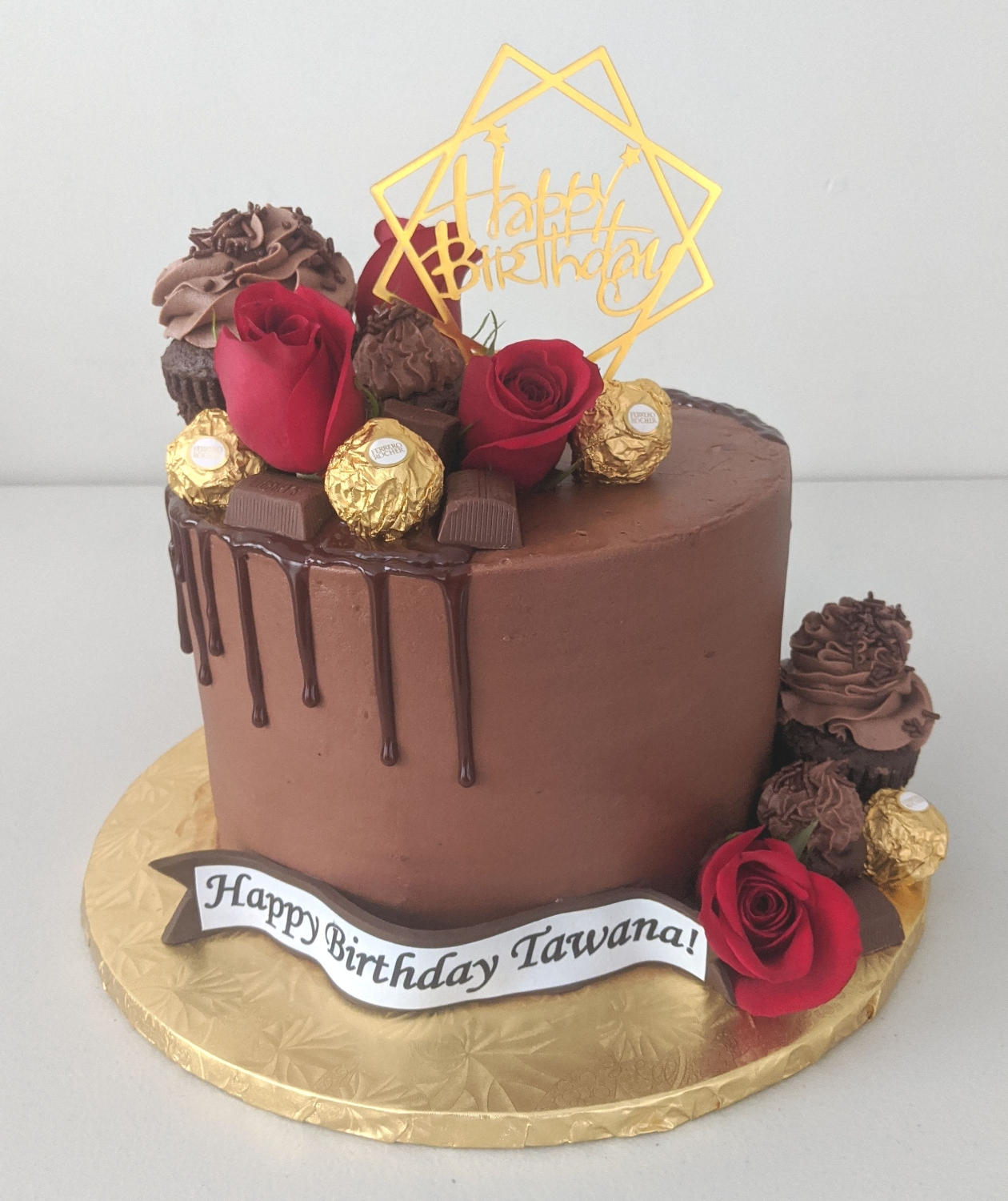 Chocolate Elegance Birthday Cake